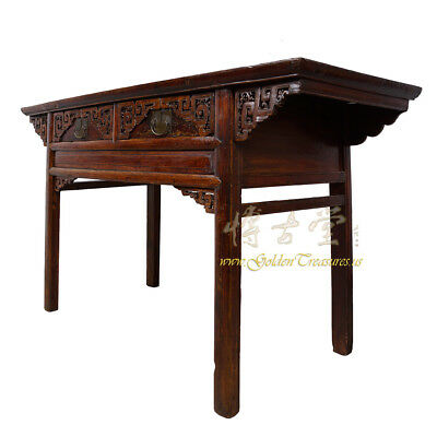 Chinese Antique Carved Zhejiang Writing Desk/Console Table 17LP12 2