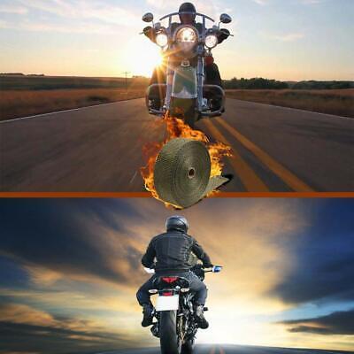 "LEDAUT 2"" x 50' Titanium Exhaust Heat Wrap Roll for Motorcycle Fiberglass Hea... 6"