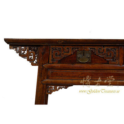 Chinese Antique Carved Zhejiang Writing Desk/Console Table 17LP12 4