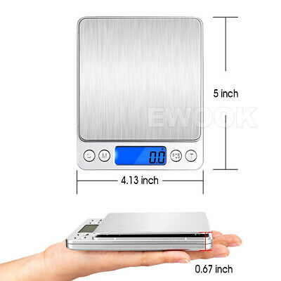 0.01G-500G Electronic Mini Digital Pocket Jewelry Gold Weighing Kitchen Scales 7