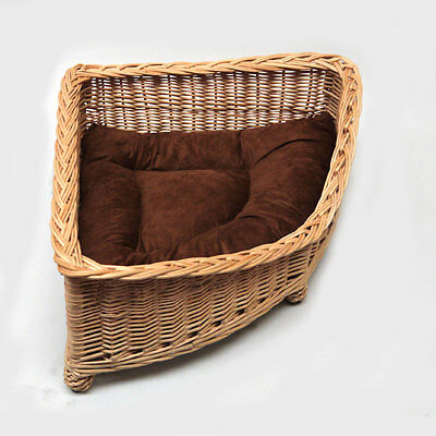 Luxury Medioum Size Wicker Pet Bed Basket EXPRESS DELIVERY 2