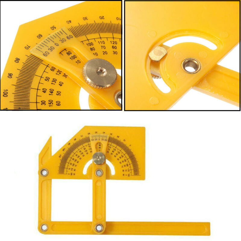 Plastic Protractor Goniometer Angle Finder Miter Gauge Arm Measuring Ruler Tool 2