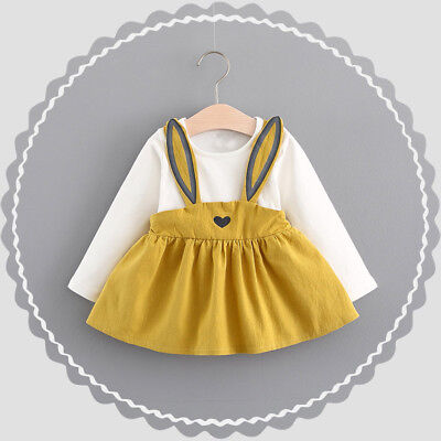 Toddler Baby Kids Girls Long Sleeve Princess Wedding Party Gown Prom Dress 2019 2
