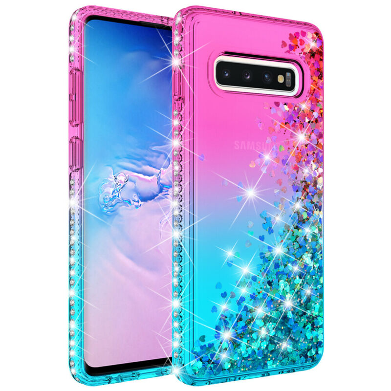 For Samsung Galaxy S9 S10 5G Plus + Note 9 10 Shockproof Cover Luxury Bling Case 4
