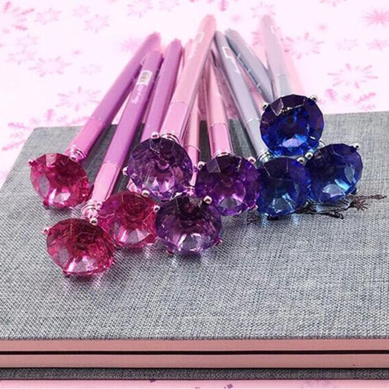 Diamond Head Crystal Ball Pen Concert Pen Ballpoint Pen Writing Stationery Gift 3