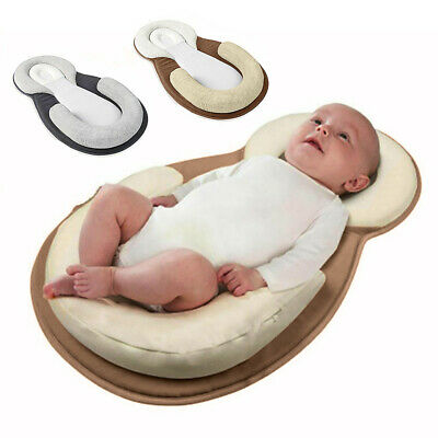 Infant Baby Newborn Pillow Cushion Prevent Flat Head Sleep Nest Pod Anti Roll UK 2