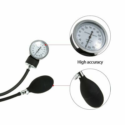 Manuelles Aneroid Oberarm Blutdruckmessgerät +Doppelkopf Stethoskop Kit DHL-BS 8