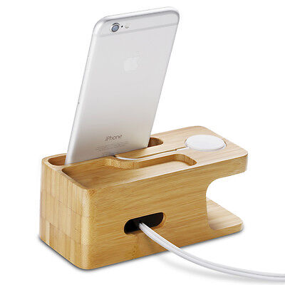Spigen® Apple Watch and iPhone Stand [S370] Bamboo Charging Dock Station 11