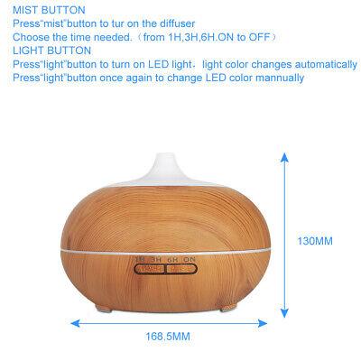 500ml Essential Oil Aroma Diffuser LED Ultrasonic Air Mist Aromatherapy AU Plug 5