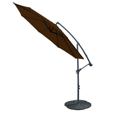 Cantilever Parasol Base Weights 4 Piece Banana Umbrella Stand Holder Fan Shaped 5