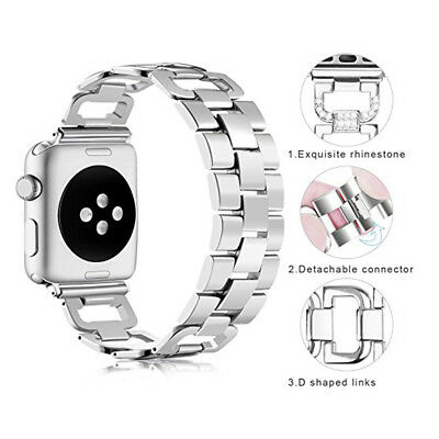 Stainless Steel Watch Band Strap for Apple iWatch 38/42mm 40/44mm Series 1 2 3 4