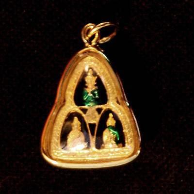 Thai Amulet Phra Kaew Morakot Emerald Buddha Drupal Jewelry Pendant