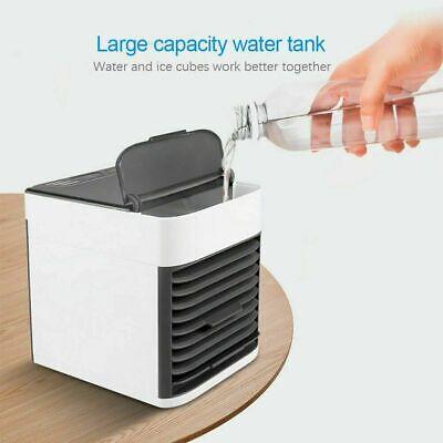 Mini Condizionatore Ad Acqua Portatile Ventilatore Umidificatore Led Vento Usb 2