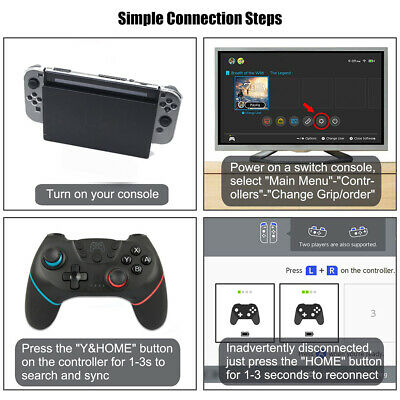 Bluetooth Wireless Gamepad Joystick Pro Controller For Nintendo Switch UK. 5