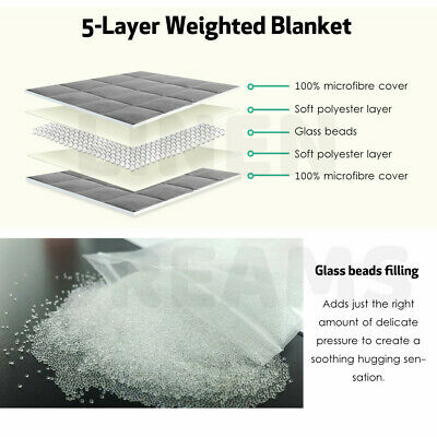 Weighted Blanket Deep Relax Sleeping Gravity for Adult Men Women Kid 9/7/5/11KG 4