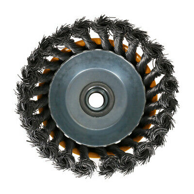 """5"""" M14 Twist Knot Steel Wire Wheel Cup Brush Angle Grinder Metal Rust Removal 7"""