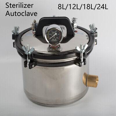 8/12/18/24L 304 Stainless Autoclave Steam Sterilizer Dental Medical Equipment 4