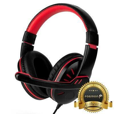 for PS4 Xbox Nintendo Switch PC Stereo 3.5mm Wired Gaming Headset [Black/Red] 2