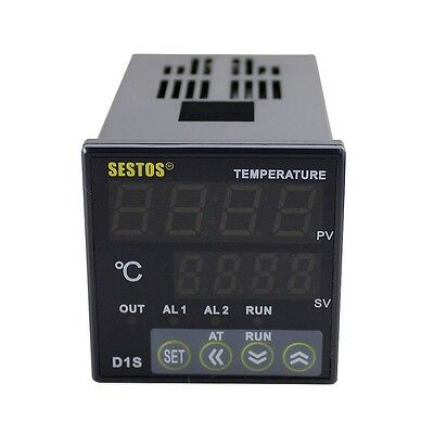 Digital PID Temperature controller D1S-VR-220+ 40A SSR + K Sensor  +Heat Sink