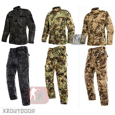 e86b1160e3abb ... MANDRAKE Military BDU Tactical Uniform Shirt Pants Kryptek Hunting  Airsoft Suit~ 11
