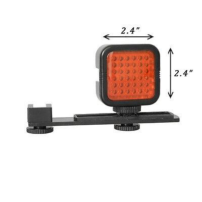 L-Shaped Bracket Handle Grip Stabilizer+ 36IR LED Infrared Light For DSLR Camera
