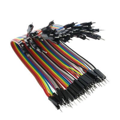 40pc 10-30cm Dupont Jumper Wire Ribbon GPIO Cable Arduino Breadboard F-F/M-M/F-M 10
