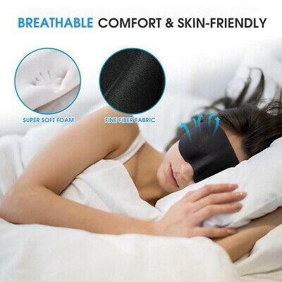 4x Travel Sleep Eye Mask Soft Memory Foam Padded Shade Cover Sleeping Blindfold 2
