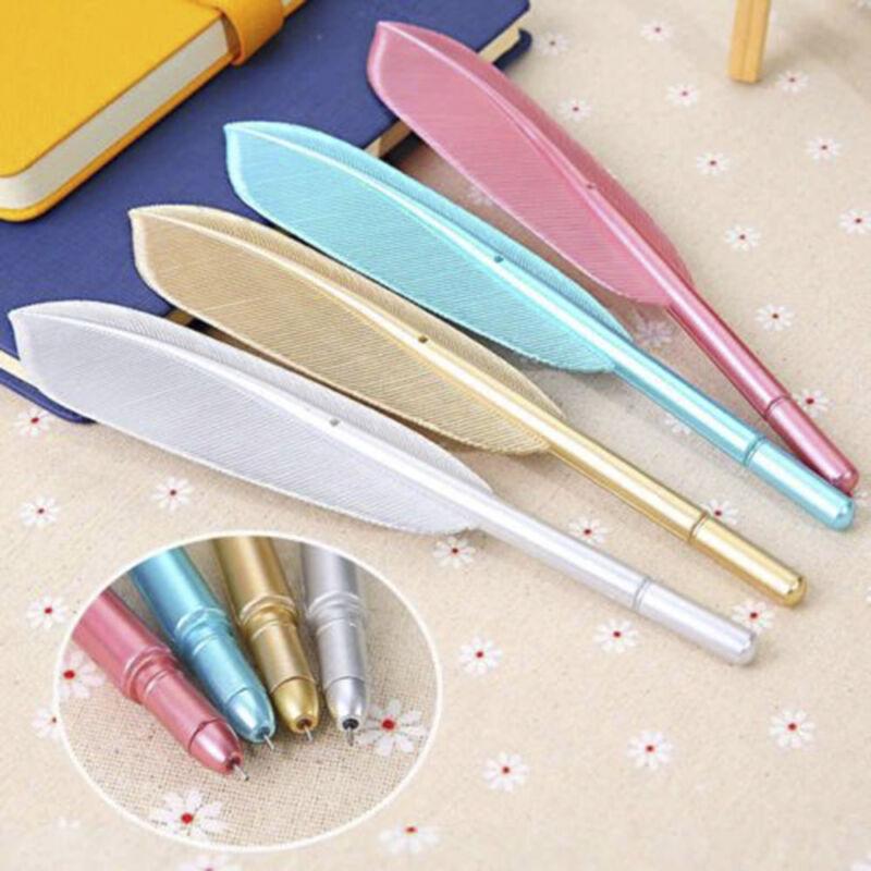 Lovely Feather Gel Pen Novelty Cute Pen Gift School Stationary Office Supplies 2