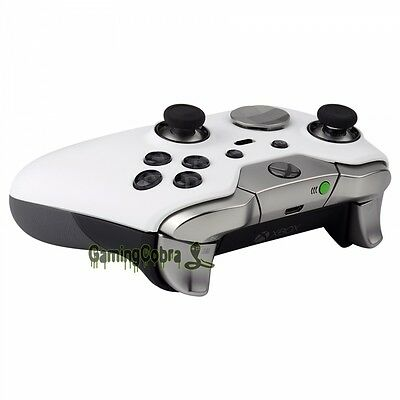 3 Of 7 Soft Touch White Housing Shell Faceplate Parts For Xbox One Elite Controller