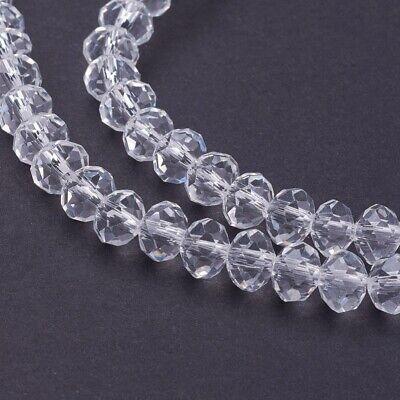 lot de 30 perles à facettes 6x4 mm en cristal 3