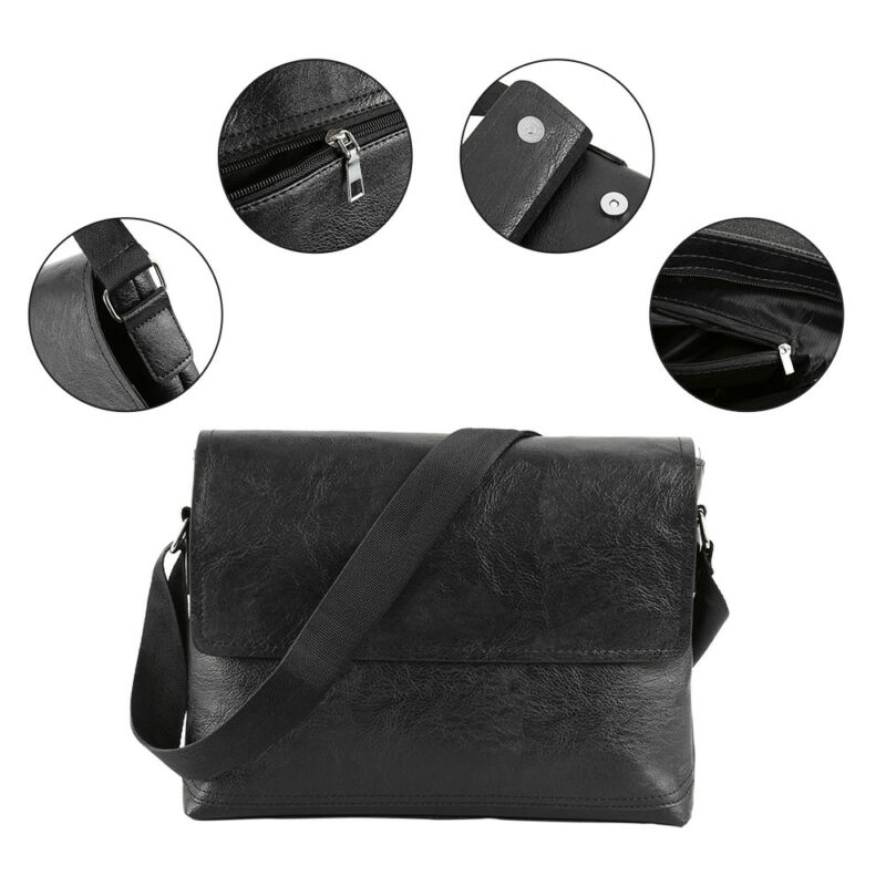 NEW Fashion Men Retro Leather Messenger Shoulder Bag Satchel Business Briefcase 7