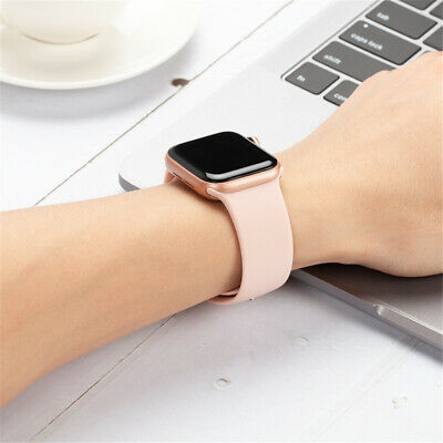 38/42/40/44mm Silicone Sports Band iWatch Strap for Apple Watch Series 5 4 3 2 1 5