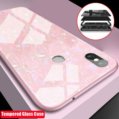 For Xiaomi A2 A1 Bling Tempered Glass Hybrid Case Cover for Redmi Note 5/5 Plus 2