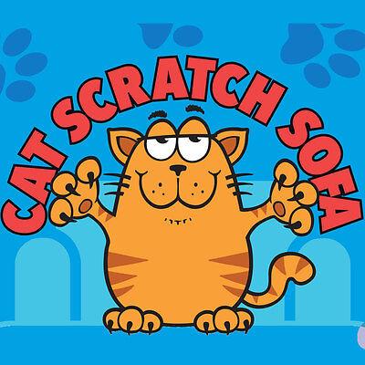 Cat Scratcher Sofa Lounge including free cat-nip Cardboard Scratch Post Cat Bed 8