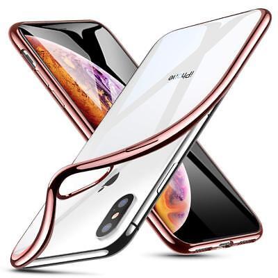 Coque iPhone X XS Max XR 2018 Transparente Gel Silicone Souple Cadre Brillante 4