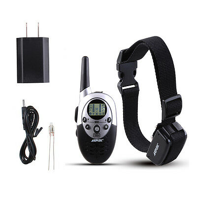 1000Yard Waterproof Shock Vibrate Remote Training Collar for Large Med Small Dog 2