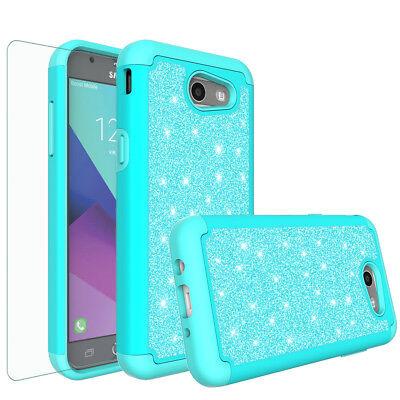 Samsung Galaxy J7 Prime, J7 Sky Pro, J7 V Case, Screen Protector Glitter Cover 3