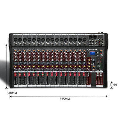 4000 Watt 16 Channel Professional Mixer power Sound mixing Console Audio Live DJ 4