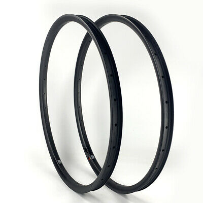 "SALE 27mm Wide Carbon 27.5/"" MTB Clincher Mountain Bike Rim Tubeless 1PAIR"