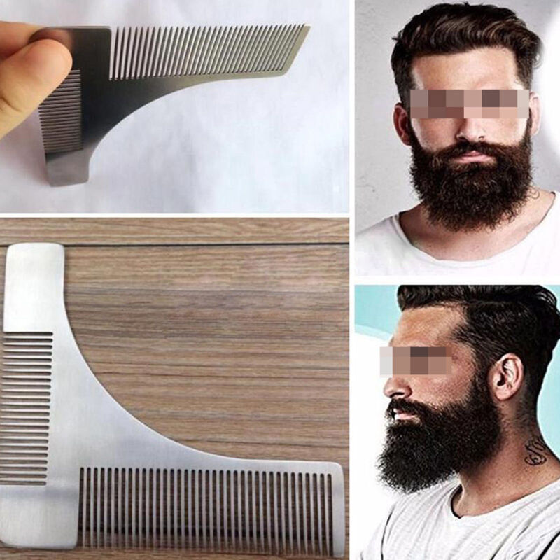NEW STAINLESS STEEL Beard Comb Metal Hair Comb Beard Shaping Shaving Tool  Comb F