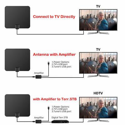 [980 Miles] Clear Indoor Digital TV HDTV Antenna [2019 Latest] UHF/VHF/1080p 4K 9