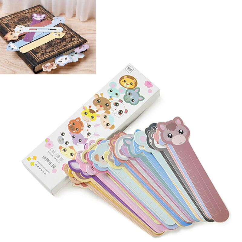 30 Pcs Kawaii Fun Animal Farm Cartoon Bookmark Paper For Books Babys Gifts Cute 5