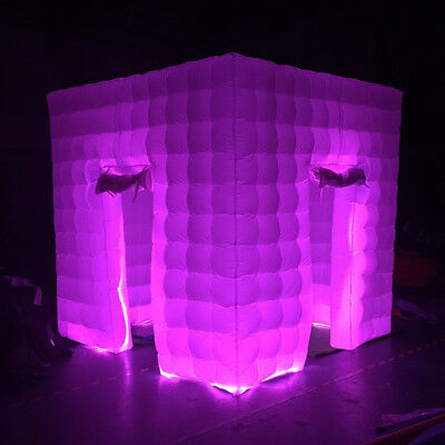 2.5M Inflatable LED Light Photo Booth Air Tent Wedding Party 2 Doors+RC+Fan USA 8