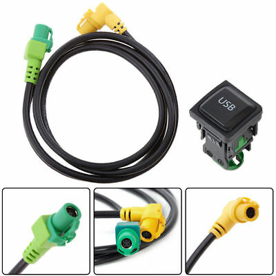 ... Car USB Switch + Aux Input Cable Wire For VW Golf MK6 Jetta RCD510 RCD310 MK5