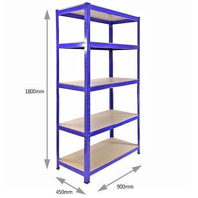 3 Racking Shelving Bays 5Tier Garage Unit Storage Racks Heavy Duty Steel Shelves 6