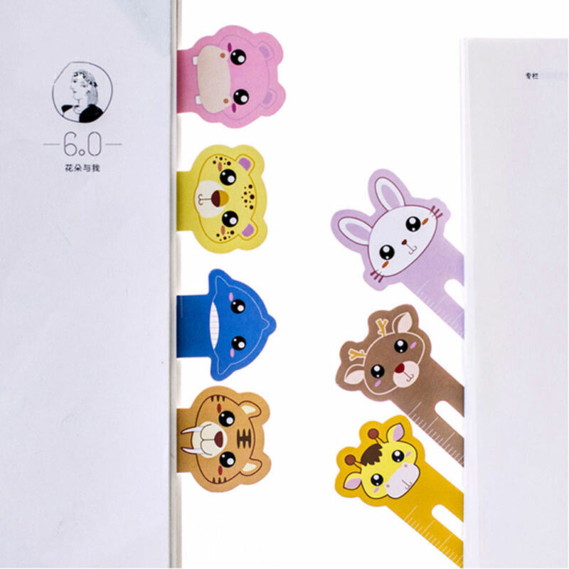 30 Pcs Kawaii Fun Animal Farm Cartoon Bookmark Paper For Books Babys Gifts Cute 2