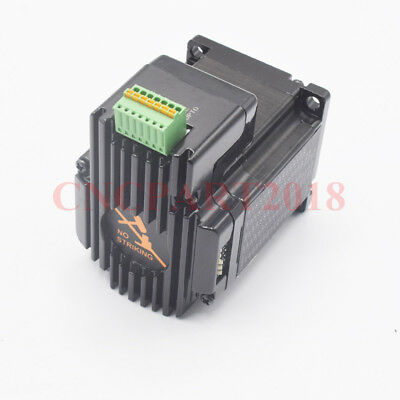 Integrated 2 in 1 Nema23 Stepper Motor L76mm 3A 1.8Nm Shaft 8mm for CNC Router 7