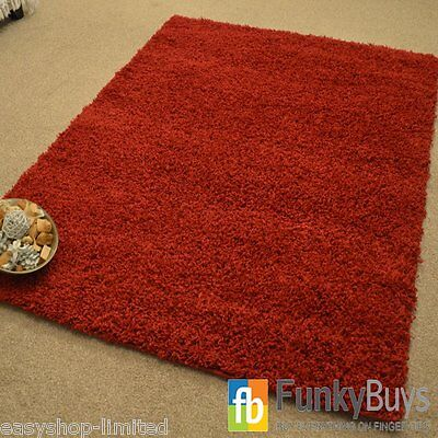 Small Large XL Size Thick Plain Soft Shaggy Rugs Non Shed Modern High Pile 6