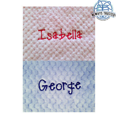 Personalised Baby Waffle Blanket Super Soft Newborn Christening Baby Shower Gift 4