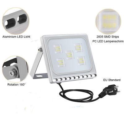 LED Fluter Flutlicht Strahler 10W 20W 50W 100W 500W Außen Scheinwerfer UltraDünn 9